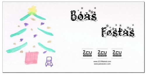 Boas Festas - Citroën 2CV Natal