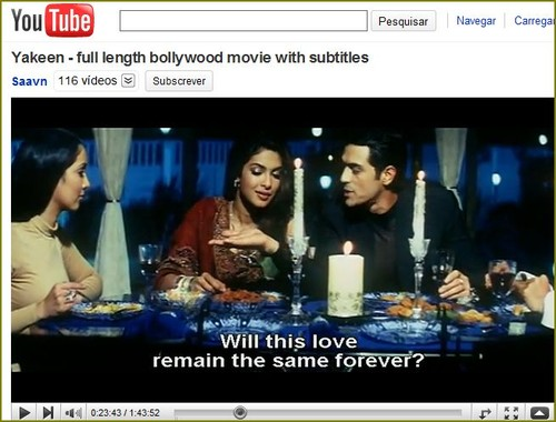 filmes indianos no youtube
