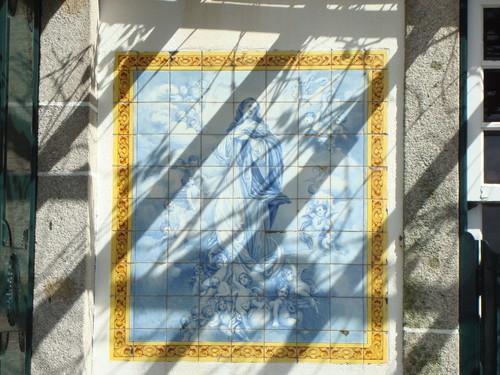 Azulejos no antigo Restaurante Garrafão