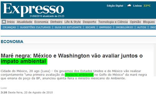 Impacto abortográfico (Expresso, 20/8/2010)