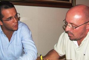Foto de uma entrevista no final de 2008...