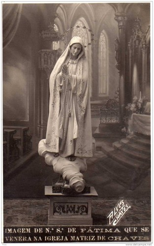 Imagem de Nossa Senhora de Fátima a Chaves