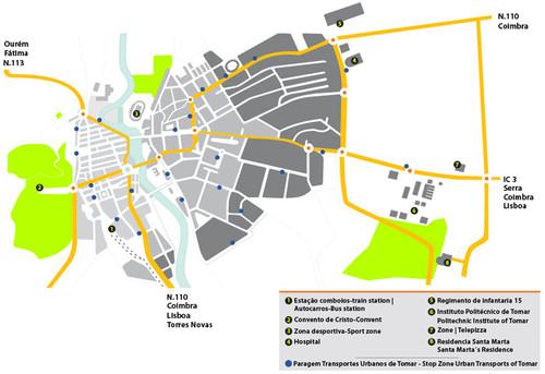 Comissão De Acolhimento Aos Estudantes Internacionais - Portugal map tomar