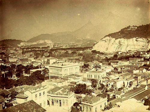 Panorâmica [sobre o palácio de Catete?], Rio de Janeiro