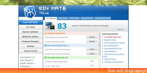 Optimizar e corrigir erros no windows
