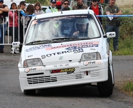 Ricardo Dias/Jorge Pereira, no pequeno Fiat Cinquecento...