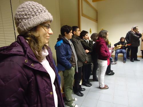 Catequista Adilia e os jovens