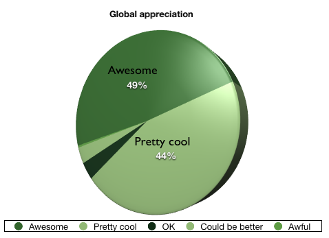 Global appreciation of Codebits IV