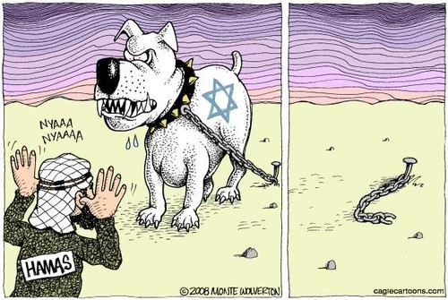 Israel, cão, Hamas
