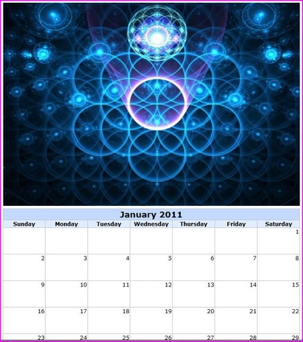 calendários para 2011
