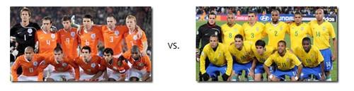 Transmissão do jogo Holanda vs Brasil em directo