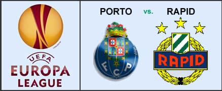 Porto vs Rapid Viena Liga Europa