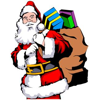 Que o Ano, tal como a imagem do Pai Natal vos traga muitas e boas prendas
