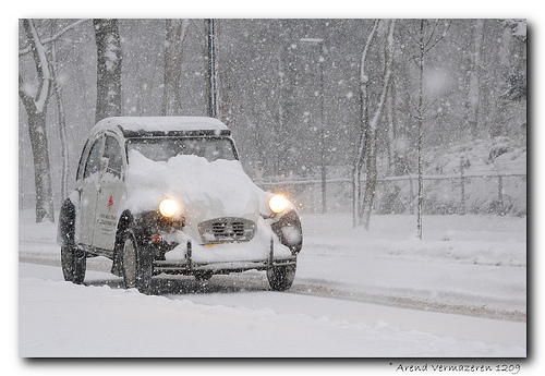 2CV na neve - 2CV in the snow