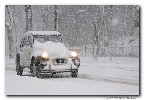 2CV na neve - 2CV in the snow