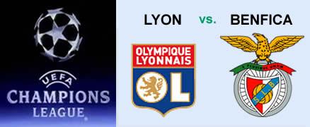 Lyon x Benfica Liga dos Campeões