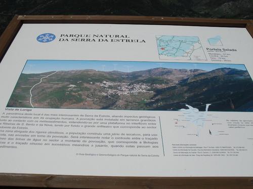 mapa e vista de loriga