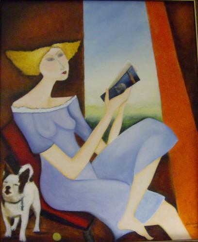 Óleo sobre tela Elisabete Sombreireiro Palma