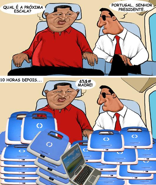 o amigo Chavez e os  Magalhães