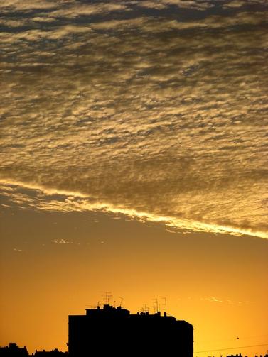 manta de nuvens