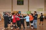 Festejos das atletas Riachenses após o jogo