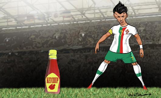 Cristiano Ronaldo e o Ketchup