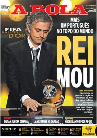 José Mourinho, Treinador do ano 2010 - FIFA Balon D'Or