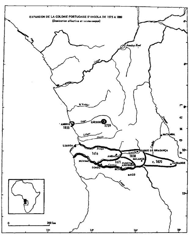 Angola - expansão portuguesa até 1870