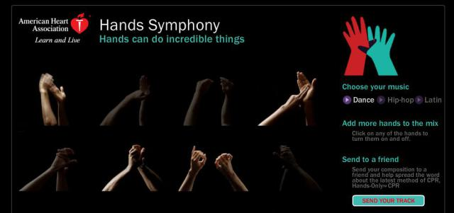 sinfonia de mãos