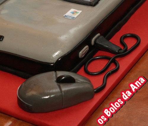 Bolo Computador Portátil Toshiba Satelite A100 - Laptop Cake - Notebook Cake