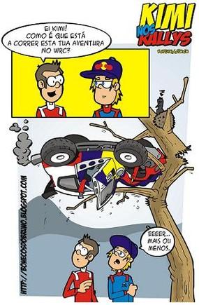 """Em cima do acontecimento, as """"desventuras"""" de Raikkonen no WRC..."""
