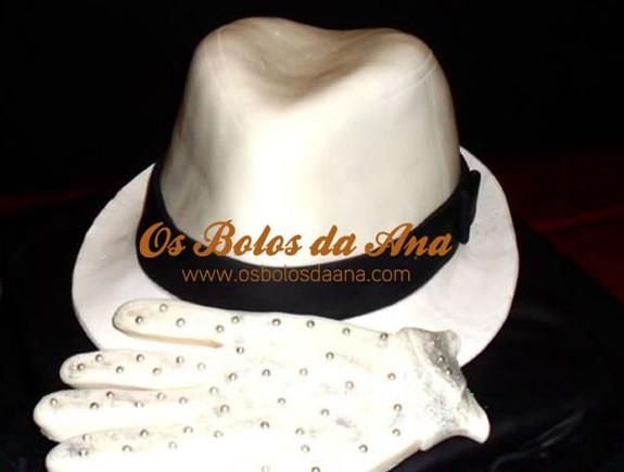 Bolo Réplica 3D - Chapéu e Luva Michael Jackson Hat and glove 3D Cake