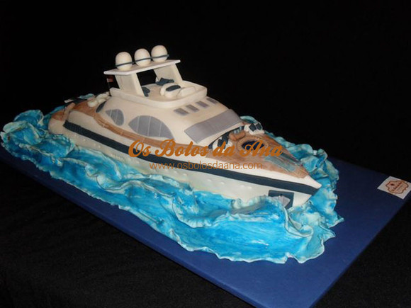 Bolo artistico Barco iate de luxo