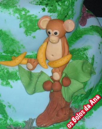 Bolo animais na selva Bolo personalizado macaco