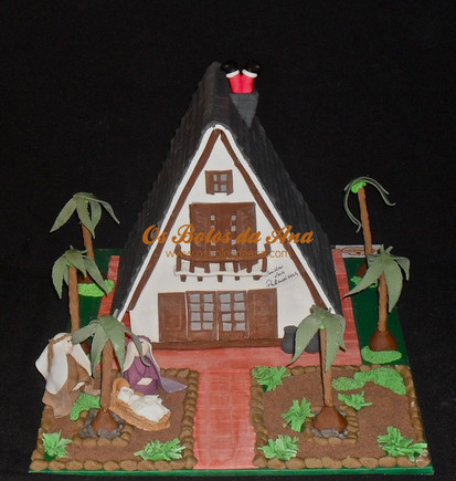 Bolo 3D Vivenda das Palmeiras - A casa da Beatriz