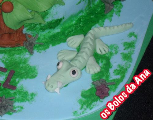 Bolo animais na selva Bolo personalizado jacaré