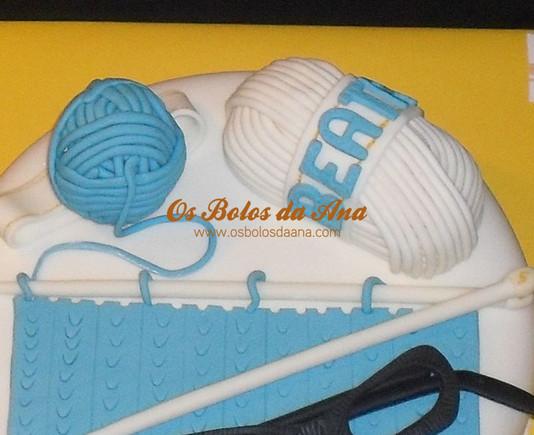 Bolo Temático - Tricô novelos de lã
