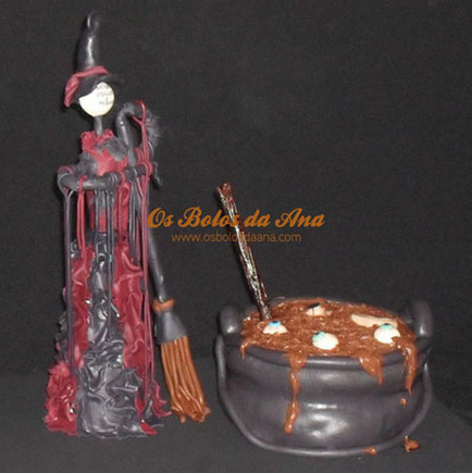 Bolo Tematico Halloween Bruxa - Witch Halloween Cake