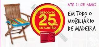 25% de desconto | CONTINENTE | Mobiliário Madeira - até 11 maio