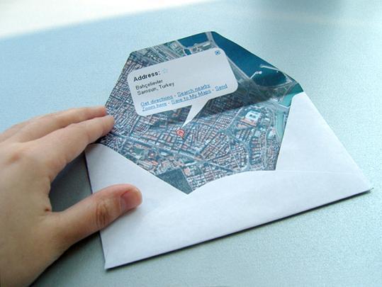 envelope mapa google