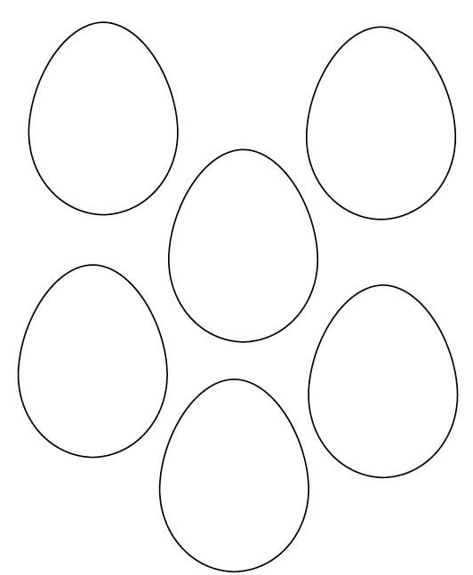 Moldes De Ovos Da Pascoa Para Colorir E Imprimir Branco E Com