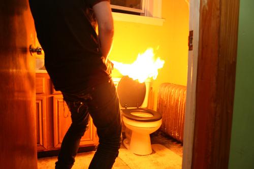 urina inflamável