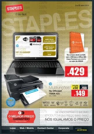 Novo folheto | STAPLES | de 3 a 22 abril - Tecnologia