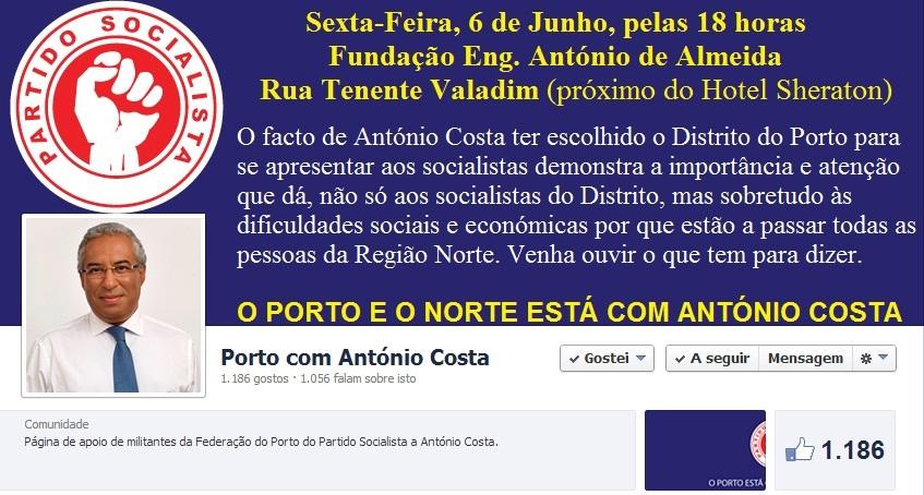 candidatura ps partido socialista antónio costa e josé seguro