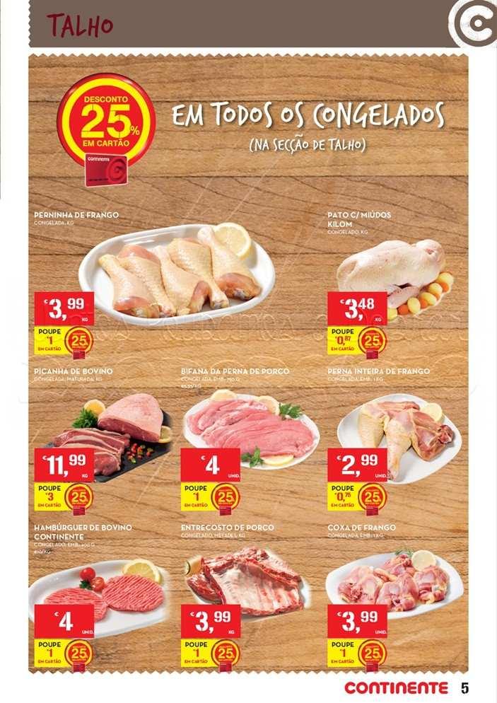 Acumulação 75% CONTINENTE de 20 a 26 maio - Carne