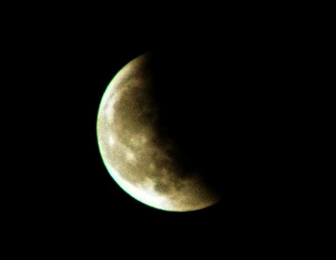 eclipse lunar a meio