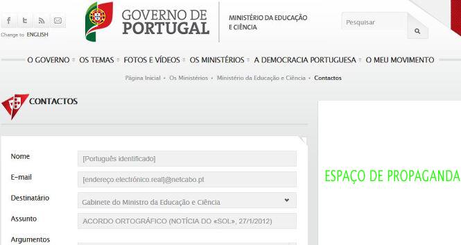 RECLAME! O novo Portal do Governo foi pago com os seus impostos...