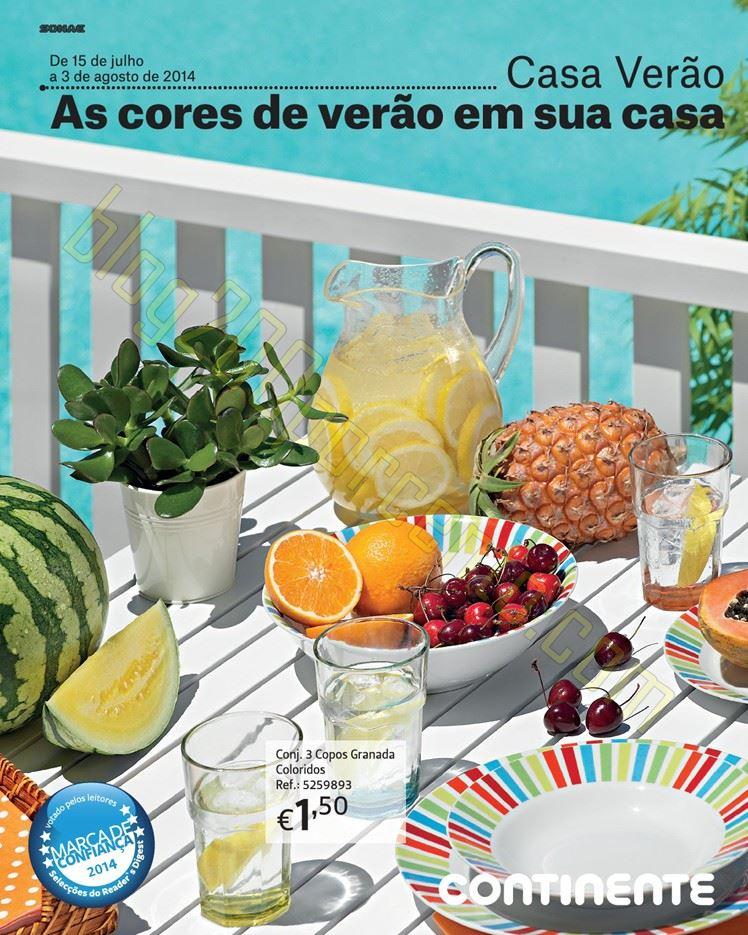 Novo Folheto CONTINENTE - Casa Verão - de 15 julho a 3 agosto