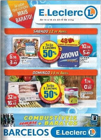 Antevisão Folheto | E-LECLERC | Barcelos de 10 a 16 abril