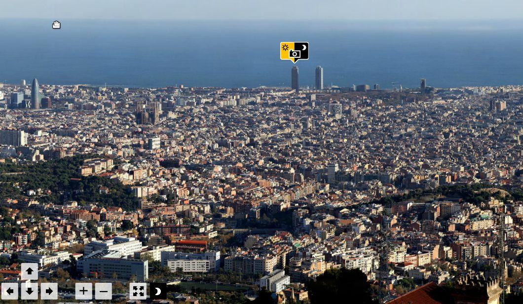 barcelona vista virtual imagem panoramica